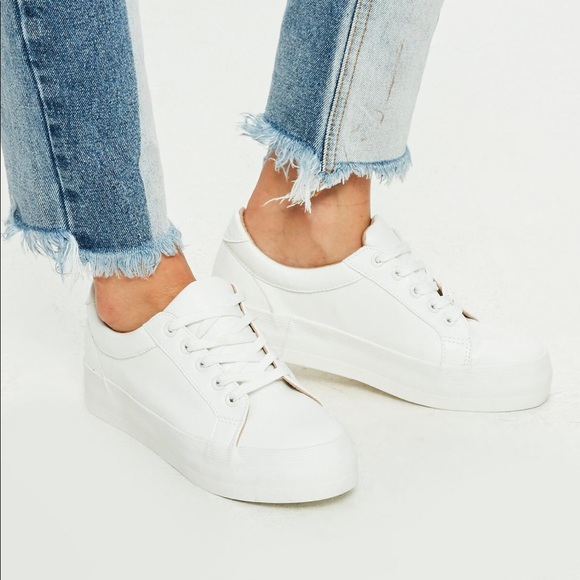 Missguided White Platform Sneakers Faux